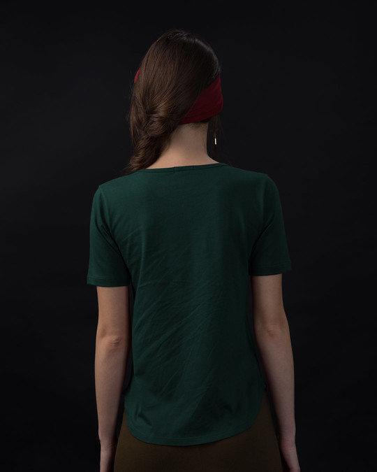 Shop Future Is Unknown Basic Round Hem T-Shirt-Back