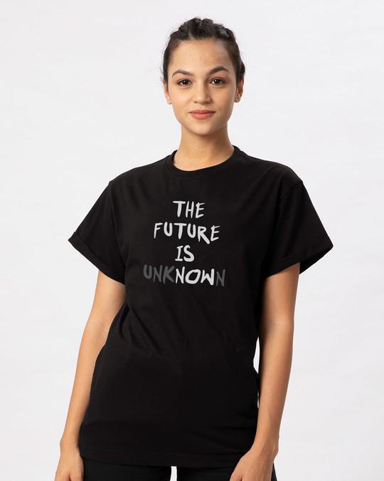 Shop Future Is Unknown Boyfriend T-Shirt-Front