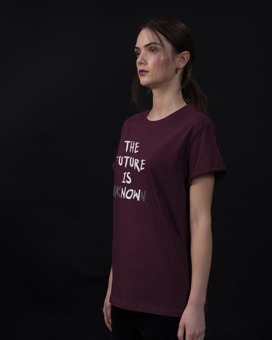 Shop Future Is Unknown Boyfriend T-Shirt-Back
