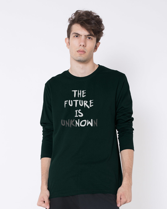 Shop Future Is Unknown Full Sleeve T-Shirt-Front