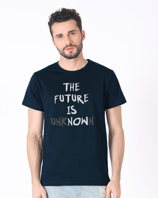 Shop Future Is Unknown Half Sleeve T-Shirt-Back