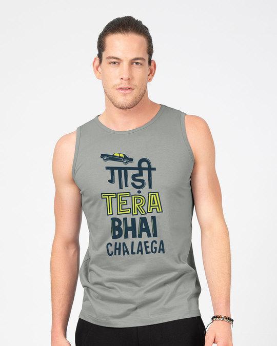 Shop Gaadi Tera Bhai Vest-Front