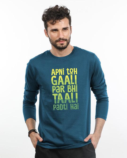 Shop Gaali Par Taali Full Sleeve T-Shirt-Front