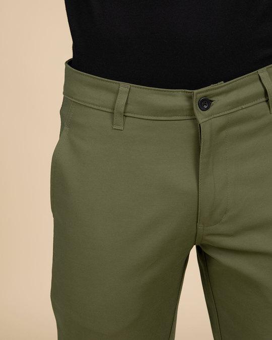 Shop Gables Green Slim Fit Cotton Chino Pants