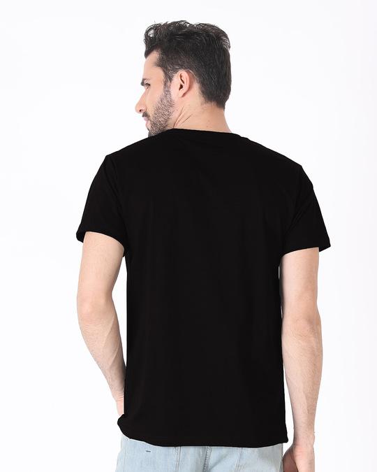 Shop Galaxy Batman Half Sleeve T-Shirt (BML)-Back