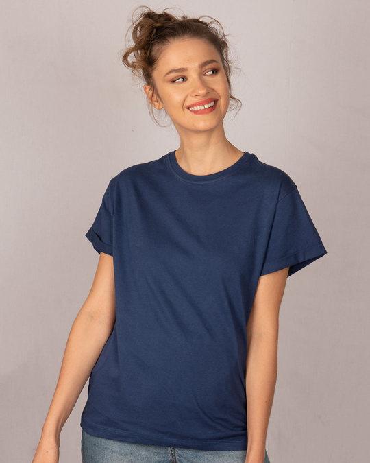 Shop Galaxy Blue Boyfriend T-Shirt-Back