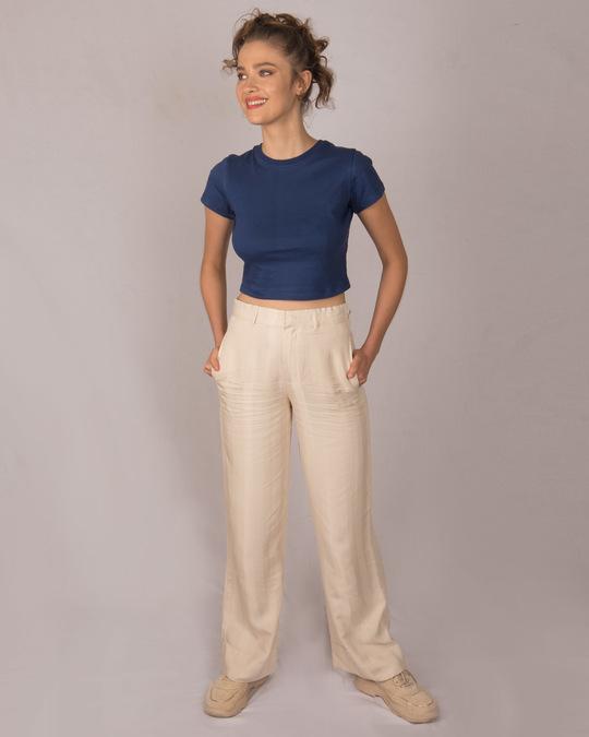 Shop Galaxy Blue Crop Top T-Shirt-Full