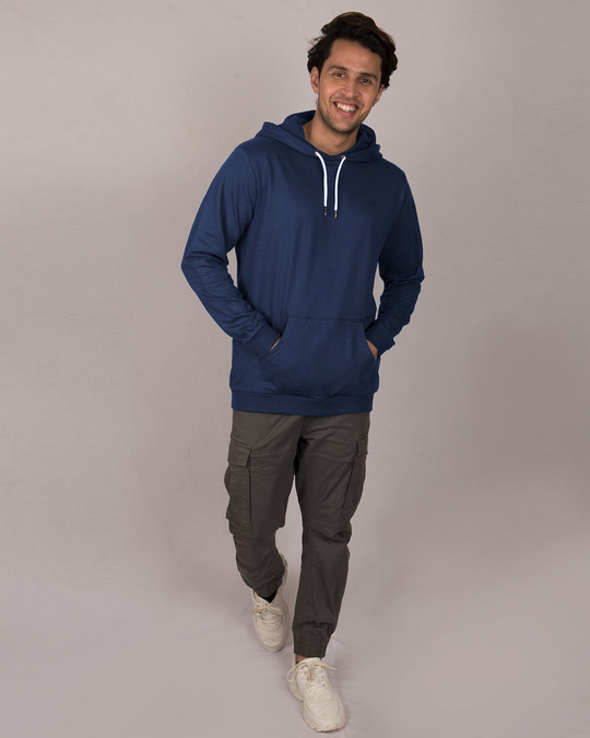 Shop Galaxy Blue Fleece Hoodie