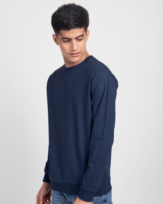 Shop Galaxy Blue Fleece Light Sweatshirt-Back