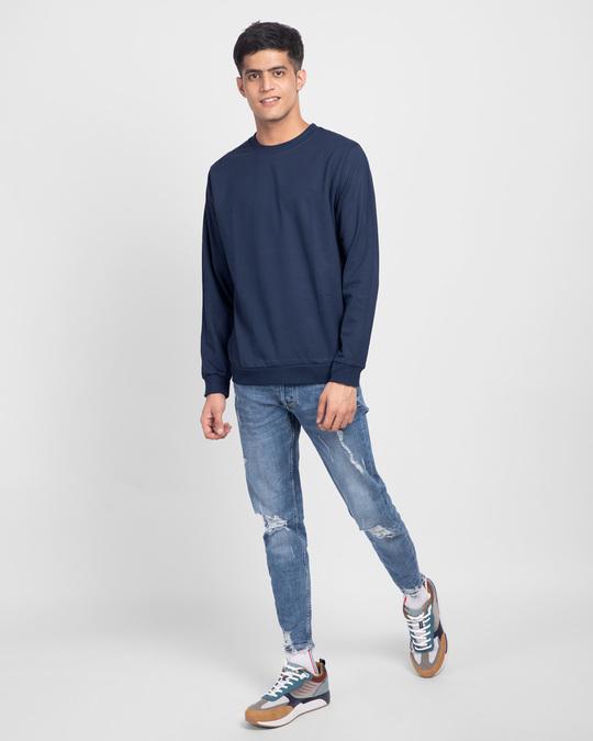Shop Galaxy Blue Fleece Light Sweatshirt-Full