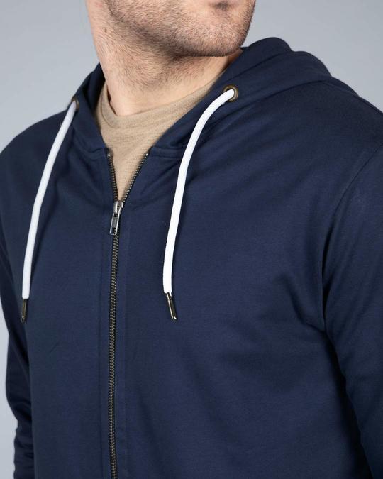 Shop Galaxy Blue Fleece Zipper Hoodies