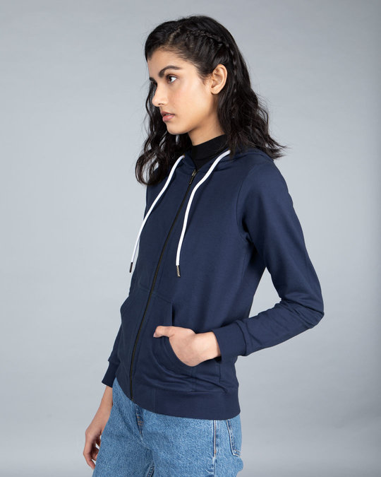 Shop Galaxy Blue Fleece Zipper Hoodies-Full