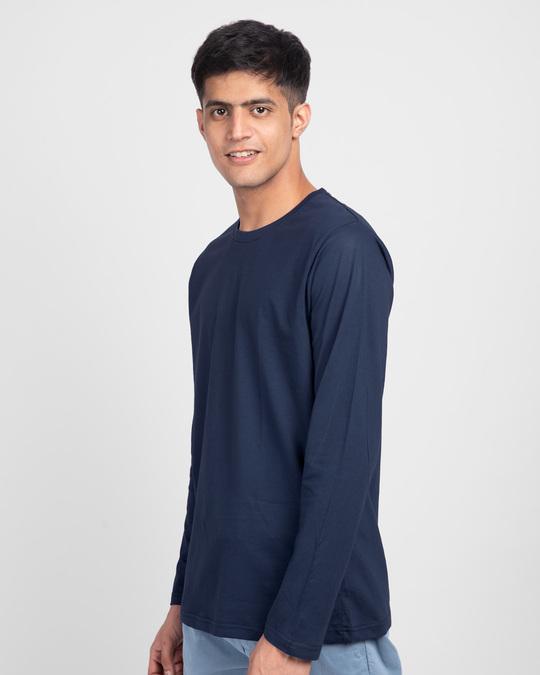 Shop Galaxy Blue Full Sleeve T-Shirt-Back