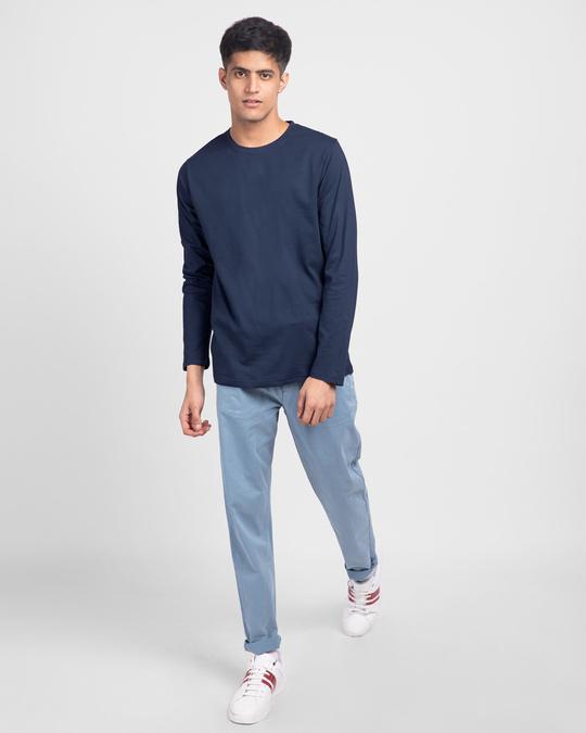 Shop Galaxy Blue Full Sleeve T-Shirt-Full
