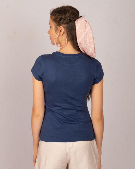 Shop Galaxy Blue Half Sleeve T-shirt-Design