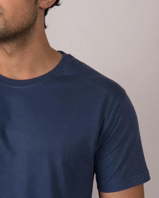 Shop Galaxy Blue Half Sleeve T-Shirt