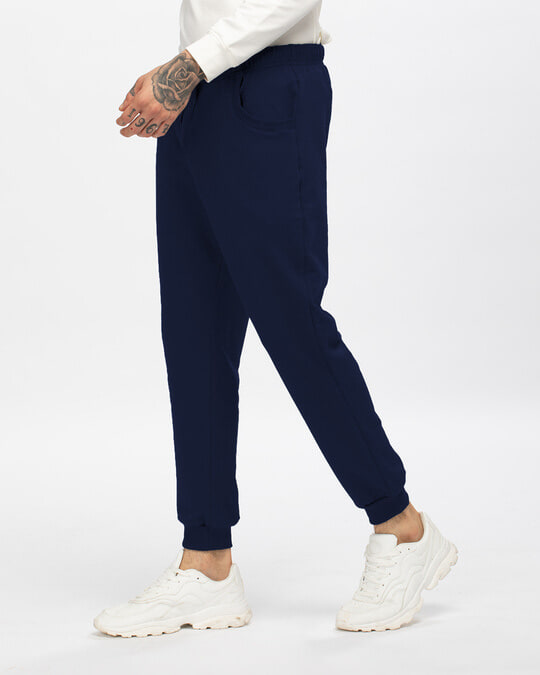 Shop Galaxy Blue Casual Jogger Pants-Back