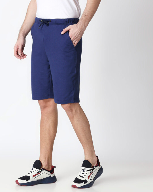 Shop Galaxy Blue Men's Casual Shorts-Back