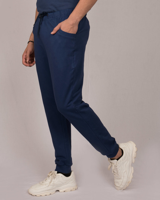 Shop Galaxy Blue Round Pocket Joggers Pant-Back