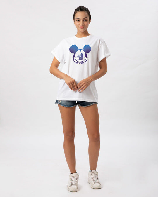 Shop Galaxy Mickey Boyfriend T-Shirt (DL)