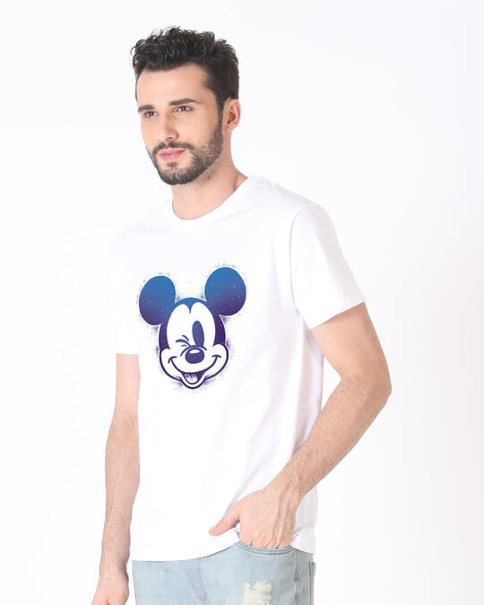 Shop Galaxy Mickey Half Sleeve T-Shirt (DL)-Design