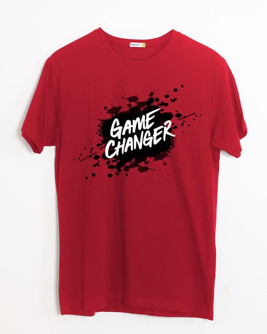 Shop Game Changer Splatter Half Sleeve T-Shirt-Front