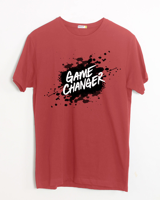 Shop Game Changer Splatter Half Sleeve T-Shirt-Front