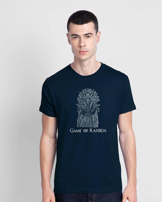 Shop Game Of Rasoda Half Sleeve T-Shirt Navy Blue-Front