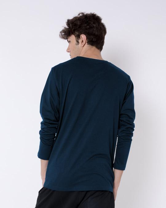 Shop Game on Monster Full Sleeve T-Shirt Navy Blue-Design