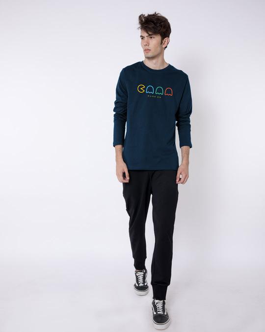 Shop Game on Monster Full Sleeve T-Shirt Navy Blue-Full