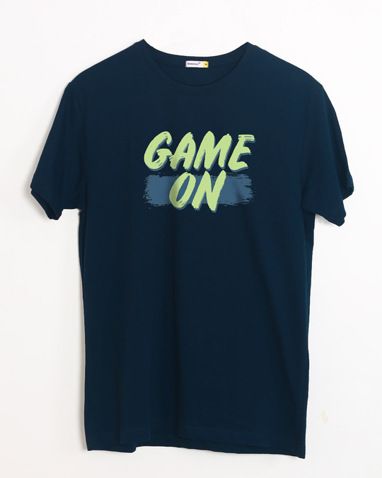 Shop Game On Neon Half Sleeve T-Shirt-Front