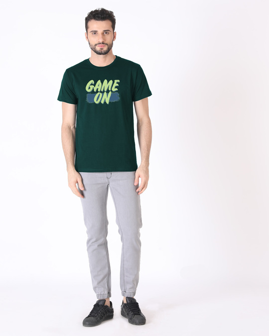 Shop Game On Neon Half Sleeve T-Shirt