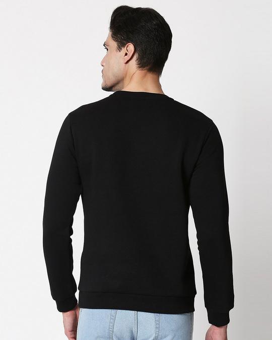 Shop Game Over Minimal Fleece Sweater Black-Back