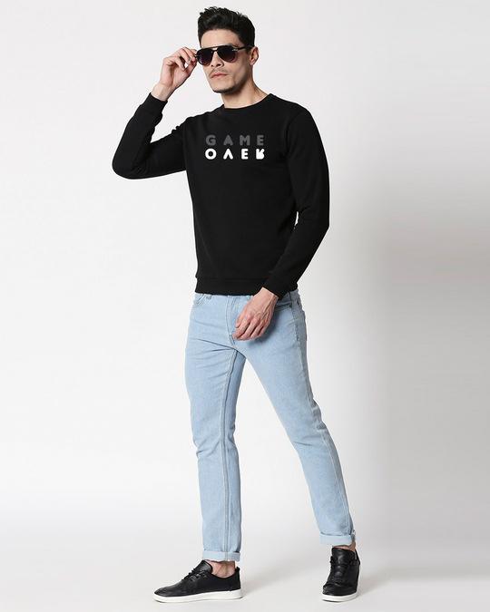 Shop Game Over Minimal Fleece Sweater Black-Design