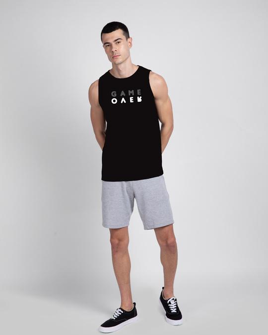 Shop Game Over Minimal Round Neck Vest Black-Design