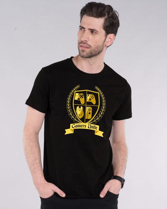 Shop Gamers Unite Half Sleeve T-Shirt-Front