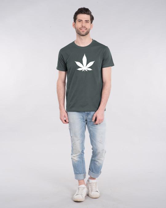 Shop Herb Glow Glow In Dark Half Sleeve T-Shirt -Full
