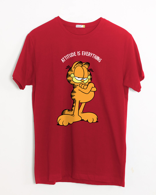 Shop Garfield Attitude Half Sleeve T-Shirt (GL)-Front