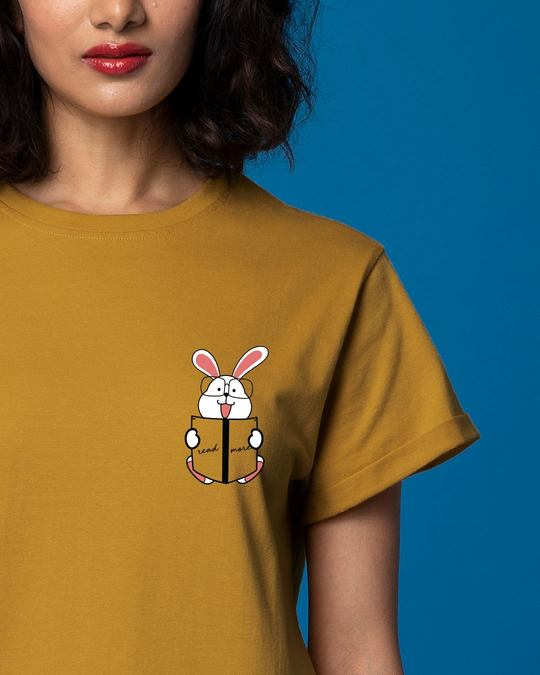 Shop Geek Bunny Pocket Boyfriend T-Shirt-Front