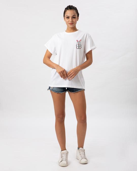 Shop Geek Bunny Pocket Boyfriend T-Shirt