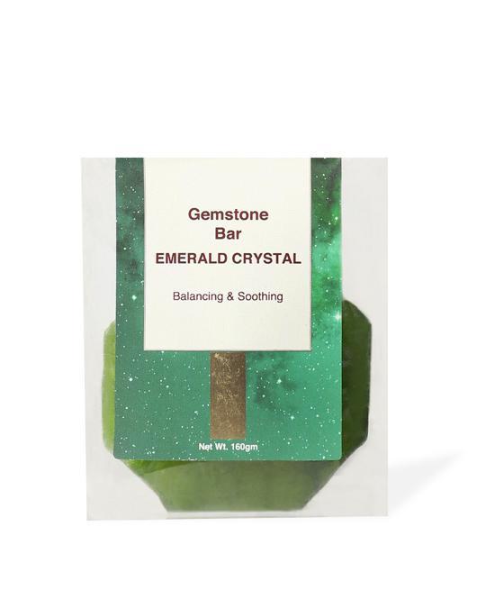 Shop Gemstone Bar Emerald Crystal Balancing & Soothing 160gm-Back