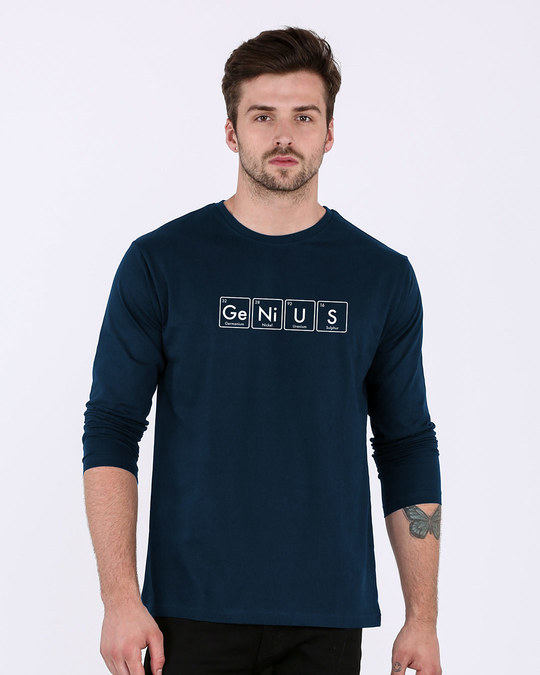 Shop Genius Full Sleeve T-Shirt-Front