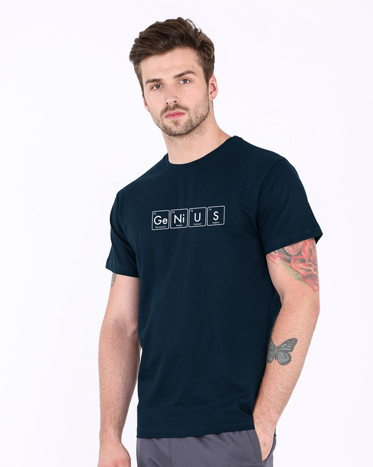 Shop Genius Half Sleeve T-Shirt-Full