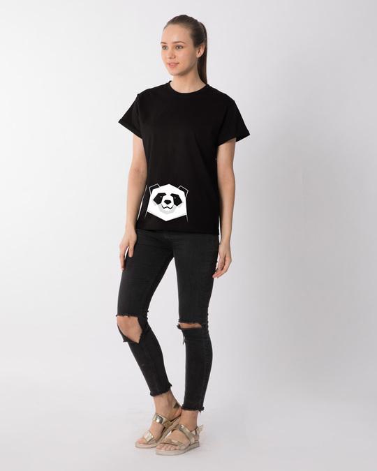 Shop Geometric Panda Boyfriend T-Shirt