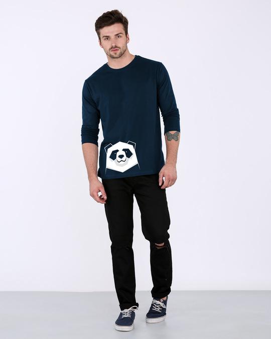 Shop Geometric Panda Full Sleeve T-Shirt-Full