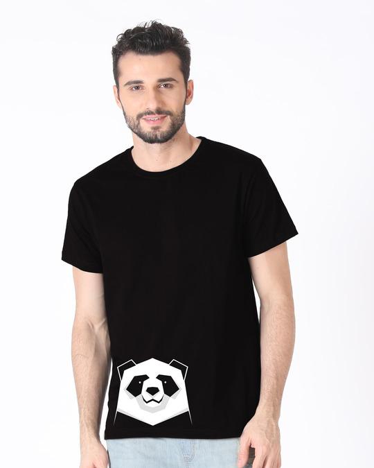 Shop Geometric Panda Half Sleeve T-Shirt-Back