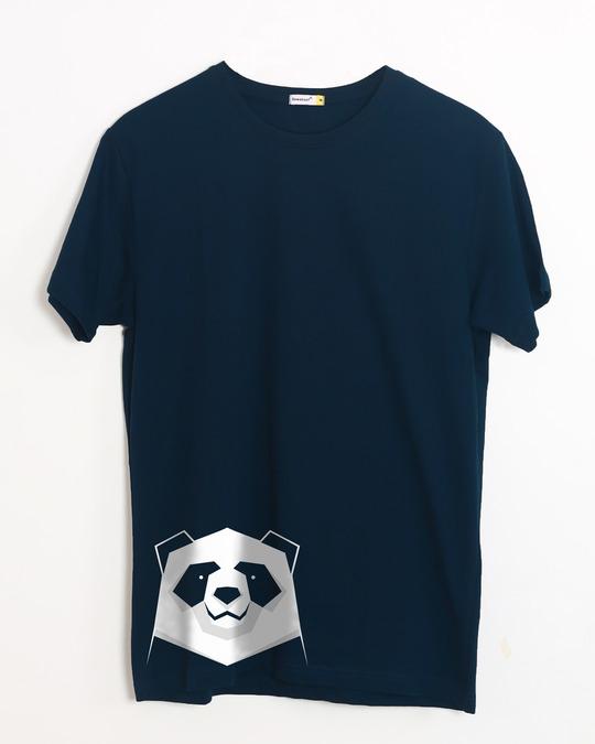 Shop Geometric Panda Half Sleeve T-Shirt-Front