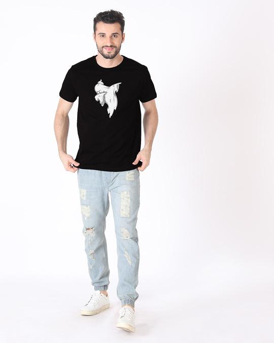 Shop Ghost Dab Half Sleeve T-Shirt (GID)-Design