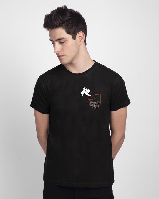 Shop Ghost Pocket Half Sleeve T-Shirt-Back