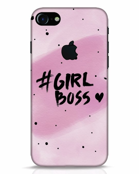 Shop Girl Boss iPhone 7 Logo Cut Mobile Cover-Front